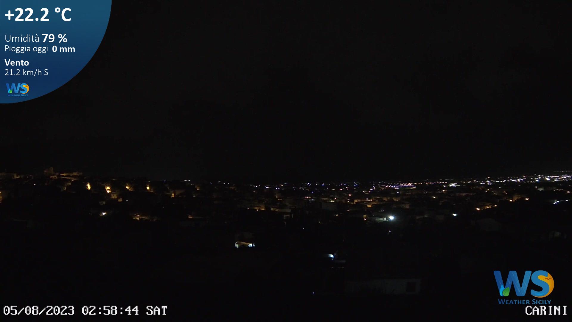 Webcam Carini - Meteo Carini